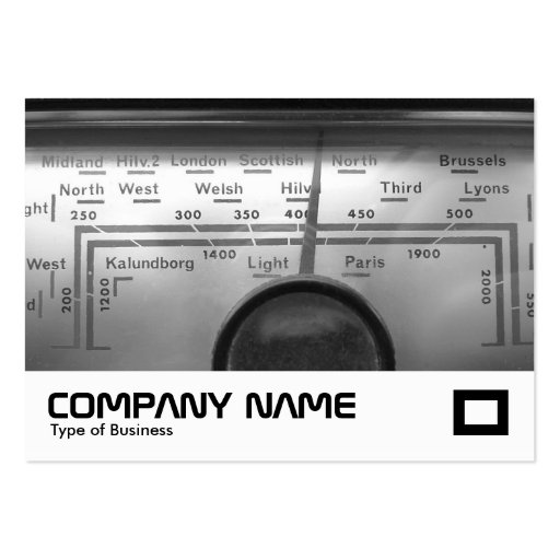 Old UK Radio Dial Business Card Template
