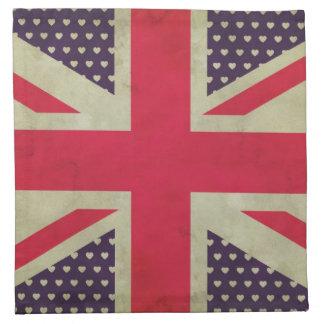 Old Union Jack Flag  American Mojo Napkins