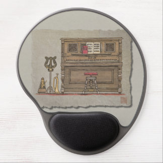 Old Upright Piano Gel Mouse Mats