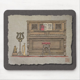 Old Upright Piano Mouse Pad