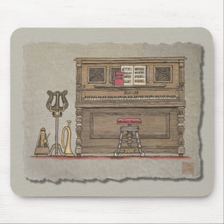 Old Upright Piano Mousepads