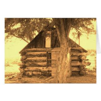 Old Utah Cabin Sepia Card