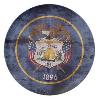 Old Utah Flag; Dinner Plate