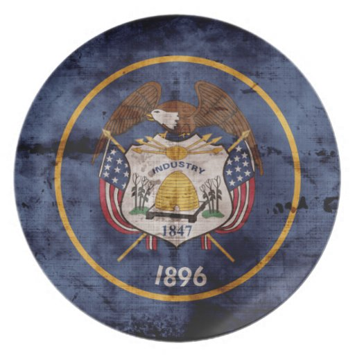 Old Utah Flag; Party Plates