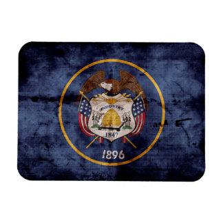 Old Utah Flag; Rectangular Photo Magnet