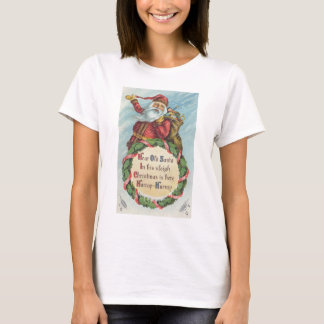 Old Victorian Santa Claus, Vintage Christmas T-Shirt