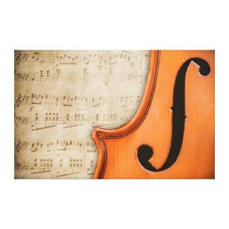 Old Vintage Antique Violin Canvas