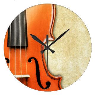 Old Vintage Antique Violin Clock