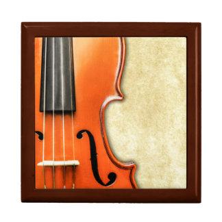 Old Vintage Antique Violin Gift Box
