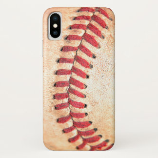 Old Vintage Baseball Ball Red Stitching iPhone X Case