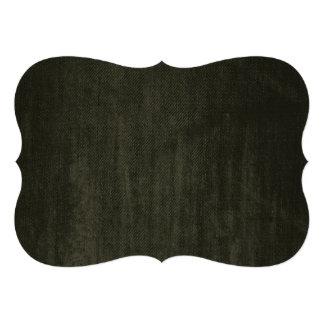 Old Vintage Black Denim pattern Custom Invitation