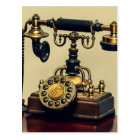 Old Vintage Brass Rotary Telephone Phone Postcard
