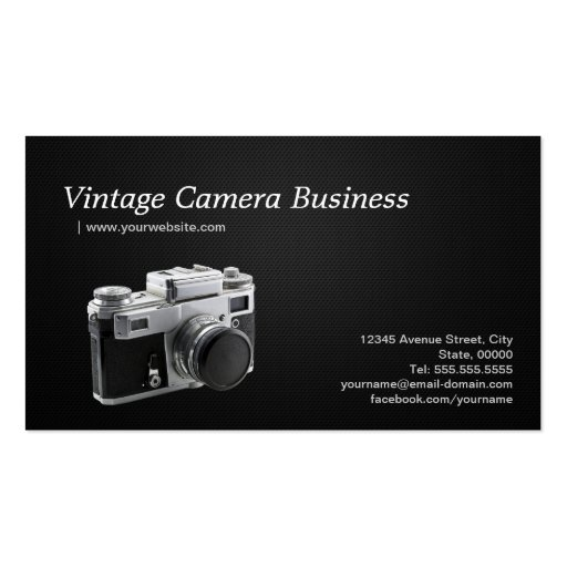 Old Vintage Camera Collector Store - Photographer Business Card Template
