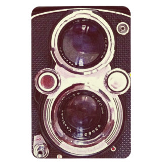 old vintage camera rectangular photo magnet