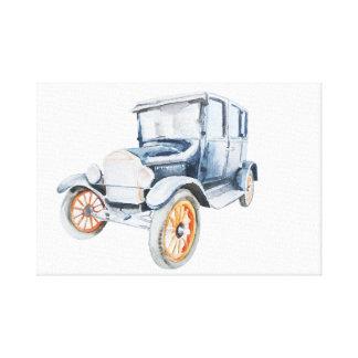 Old vintage car. canvas print