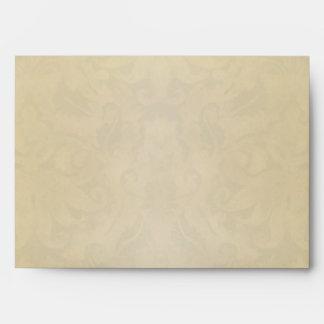 old vintage damask aged envelopes design