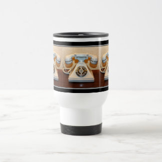Old Vintage Dial-up White Phone Stainless Steel Travel Mug