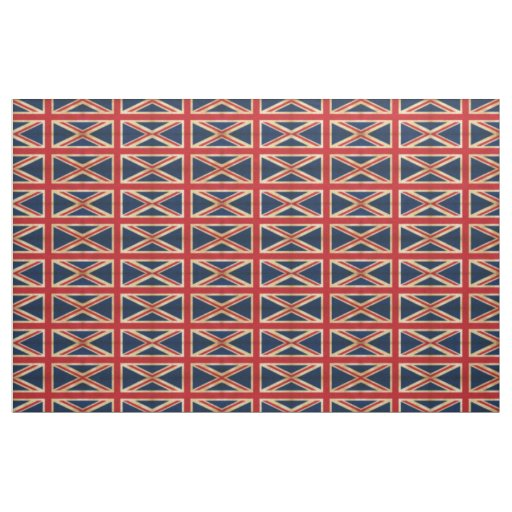 Old Vintage Grunge United Kingdom Flag pattern Fabric