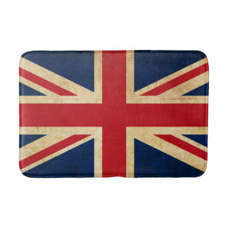 Old Vintage Grunge United Kingdom Flag Union Jack Bath Mat