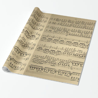 Old vintage Music Sheet Wrapping Paper