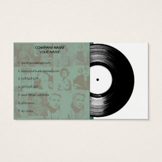 Old Vintage Music Vinyl Business Card