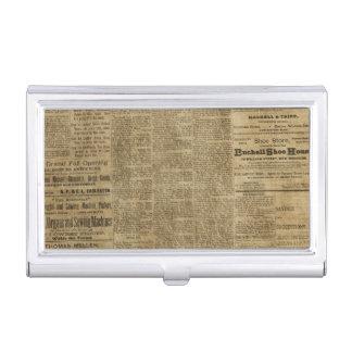 Old Vintage Newspaper Business Card Holder