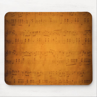 Old vintage sheet music mouse pad
