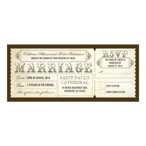 old vintage wedding invitations - tickets & RSVP