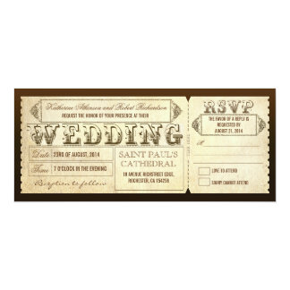 Old Vintage Wedding Tickets with RSVP Card