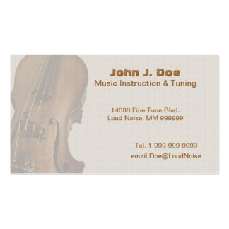 Old Violin Business Card Templates