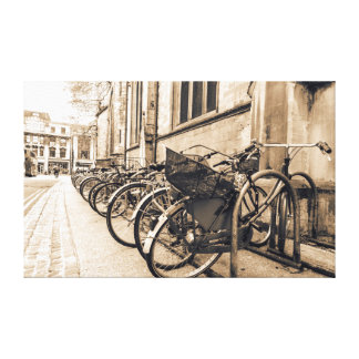 Old Vntage Bikes Bicycles in Oxford Canvas
