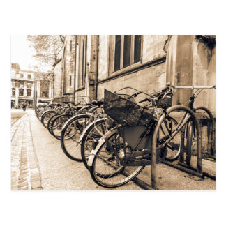 Old Vntage Bikes Bicycles in Oxford Postcard