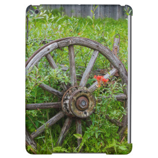 Old wagon wheel in historic old gold town 3 cover for iPad air
