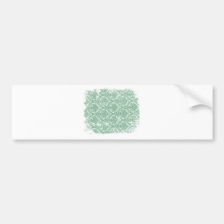 Old Wallpaper Pattern Bumper Sticker