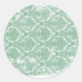 Old Wallpaper Pattern Round Sticker