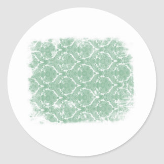 Old Wallpaper Pattern Classic Round Sticker
