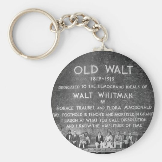 Old Walt Basic Round Button Key Ring
