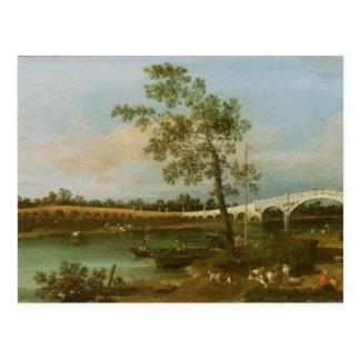 Old Walton's Bridge, 1755 (oil on canvas) Postcard