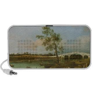 Old Walton's Bridge, 1755 (oil on canvas) Portable Speakers