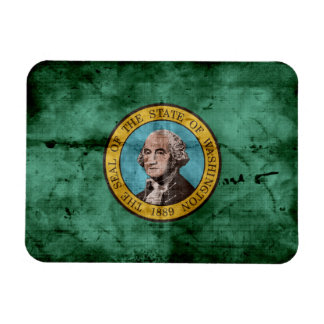 Old Washington state flag Magnet
