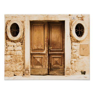Old wasted door architecture in Croatia Poster