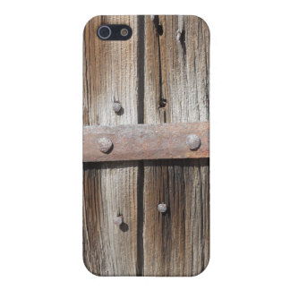 Old Weathered Wood and Rusty Metal iPhone 5 Case