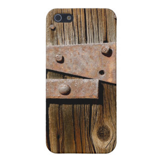 Old Weathered Wood and Rusty Metal iPhone 5 Covers