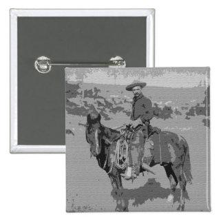 Old West 15 Cm Square Badge