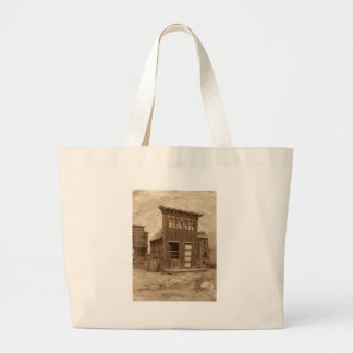 Old West Bank Sepia Jumbo Tote Bag