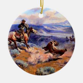 Old West Christmas Ornament