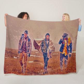 Old West Cowboys Acrylic Art Fleece Blanket