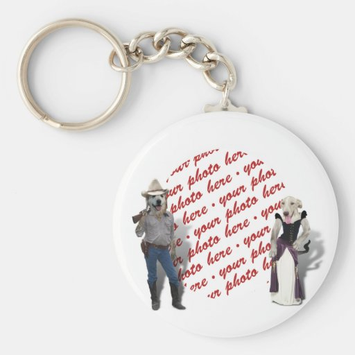 Old West Dogs Photo Frame Key Chain
