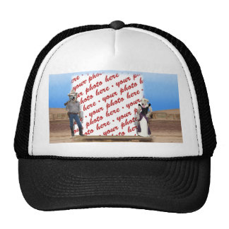 Old West Dogs Photo Frame Mesh Hats