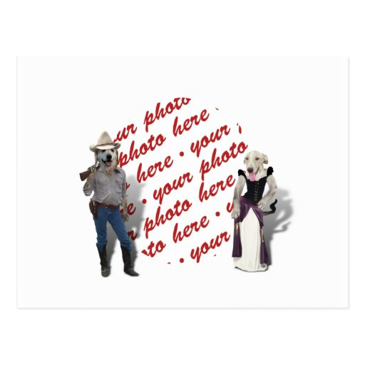 Old West Dogs Photo Frame Post Card